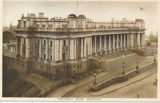 Early 20th Century postcard showing Parliament House Melbourne