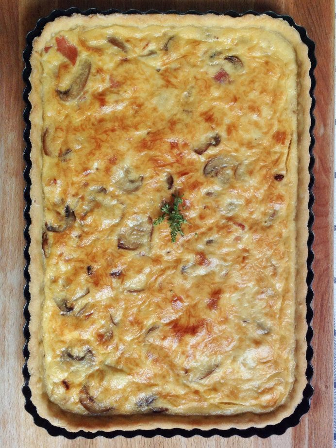 Quiche de beicon y champis | La cuchara azul Quiches, Empanadas, Casserole Recipes, Lasagna, Breakfast, Ethnic Recipes, Desserts, Food, Yummy Yummy
