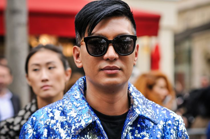 Influencer Bryanboy outside the Valentino show