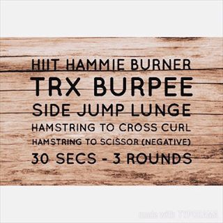 TRX HIIT and Glute Circuit
