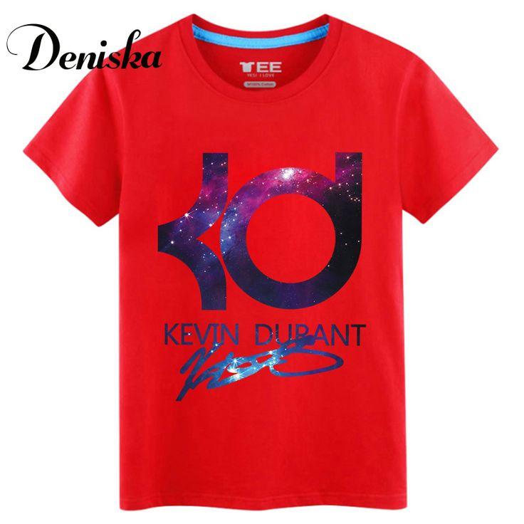 2016 Новый Кевин дюрант майка майка свободные лучших продажа письмо KD мужчины топы tee основные ежедневно носить летом S-3XL