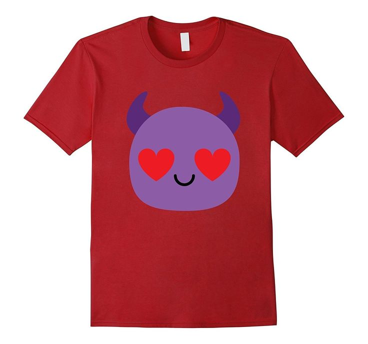 Devil Emoji Heart Eye Shirt T-Shirt Demon Tee