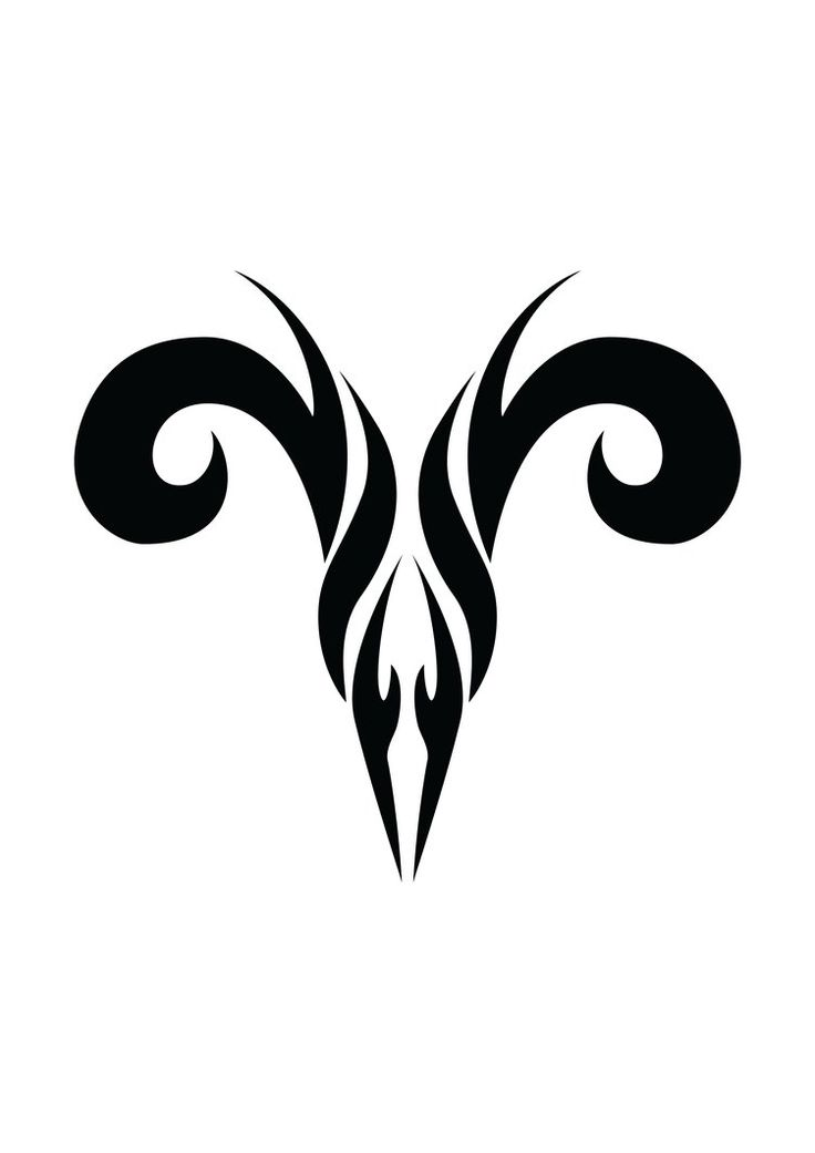 Tribal Aries tattoo, one of the best design... :)