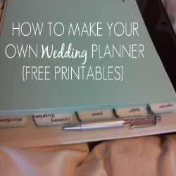 How to Make Your Own Wedding Planner with Free Printables included from Jess at Sleepless in DIY Bride Country