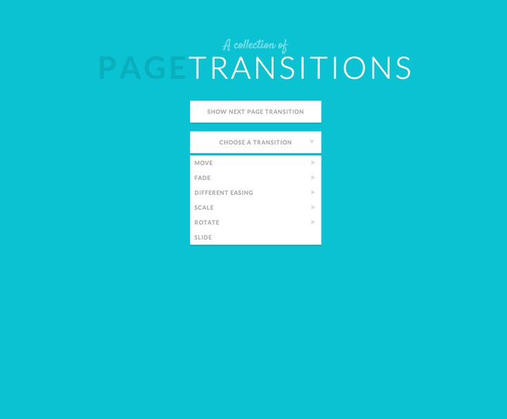 A collection of page transitions by Tympanus