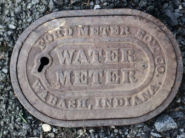 Early Ford water meter box found on Mill Road, Greystones, Co. Wicklow. Similar boxes found in Belfast city and Kilkenny