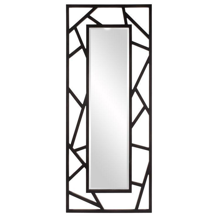 "Howard Elliott Coventry Large Black Mirror 30"" x 72"" x 1"""