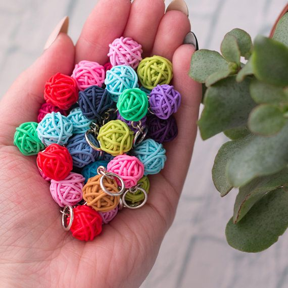 CUSTOM ORDER Stitch Markers set of 10pcs markers for