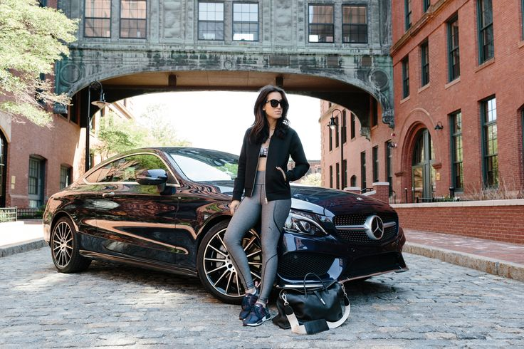 Fashion stylist and blogger Tania Sarin photographed by Courtney Ryan in front of a stunning C-Class Coupé.  #MBPhotoCredit: Courtney Ryan IG @courtperkins