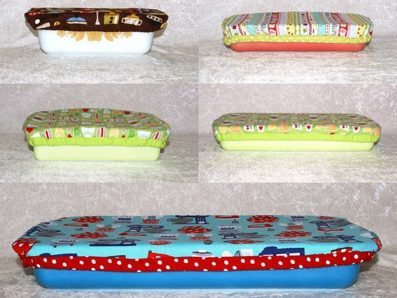 Fabric Reusable Dish Covers • Matching Set Of 5 • Elastic Bowl Cover • Baking Accessories • Food Safe • Food Storage Cover • 18 Fabrics