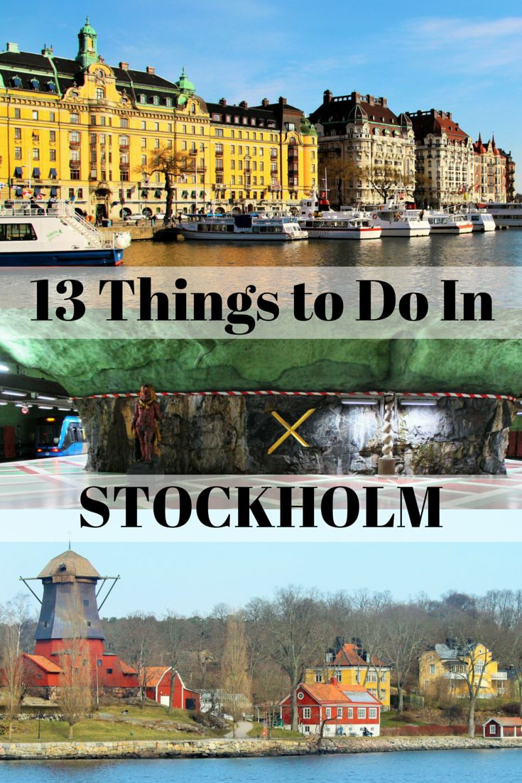 13 things to do in Stockholm Sweden. #Stockholm #Sweden #travel