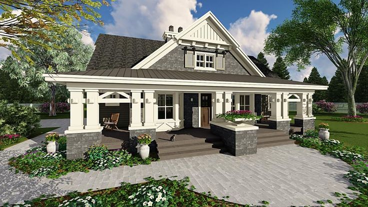 House Plan 42653 | Craftsman Plan with 2322 Sq. Ft., 3 Bedrooms, 3 Bathrooms, 2 Car Garage