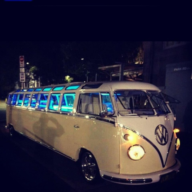 VW bus limo!?! YES!!! I NEED THIS!