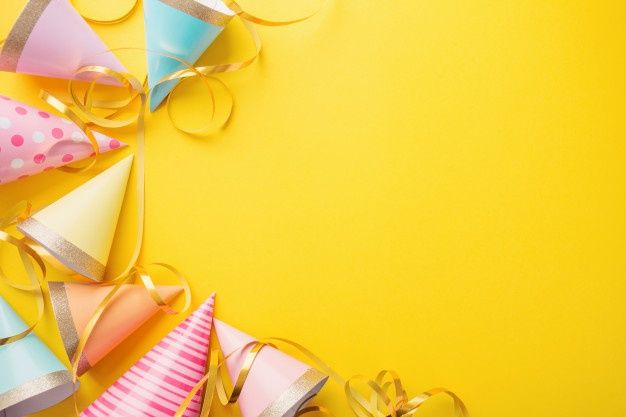Birthday Party Background On Yellow In 2020 Birthday Background