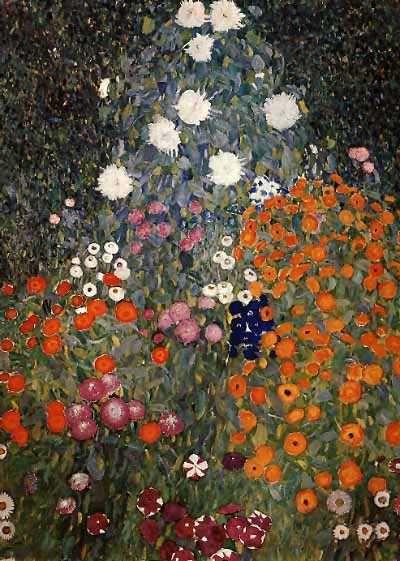 Gustav Klimt, Flower Garden (1905 06) Love Klimt