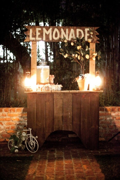Cute lemonade stand or a bake sale stand for a farmer's market