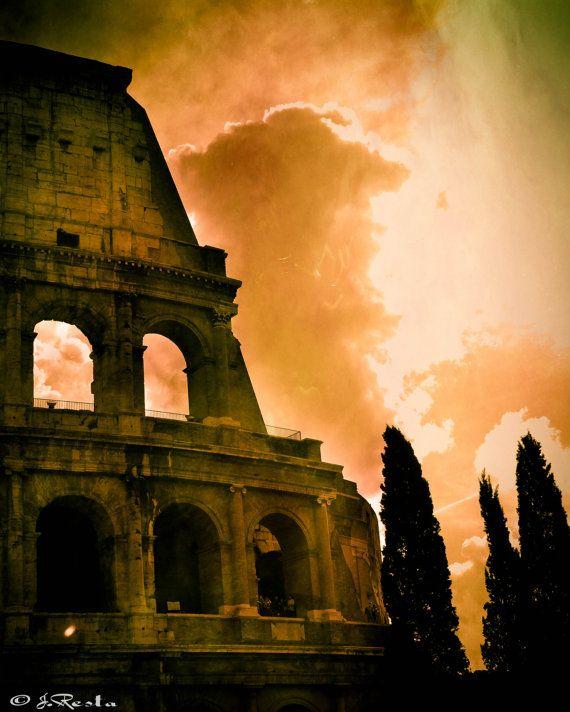 Colosseum print classic Italian travel art by BelmondoVintage