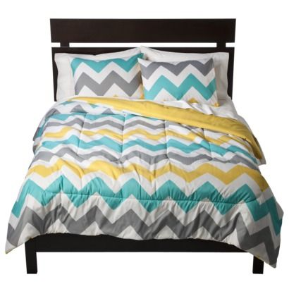 Room Essentials® Chevron Comforter - $29.99. Finally some chevron patterns at Target prices!