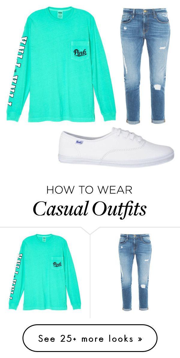 """Casual"" by ssbean0619 on Polyvore featuring Victoria's Secret and Frame Denim"