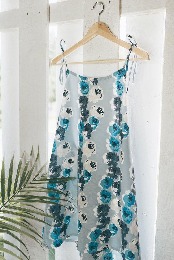 OLIVIA DRESS - BLUE BLOOMS