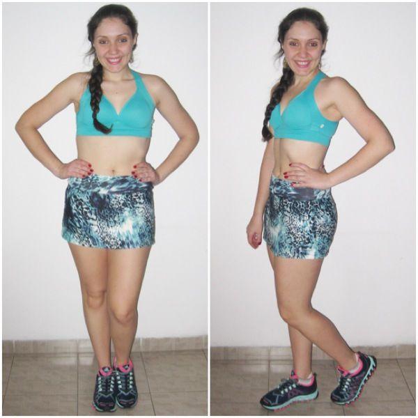 Saia Stacey e Top Summer #academia #fitness #malhar #treino #lookfitness #lookdodia #gym #saia #estampa #animalprint #legging