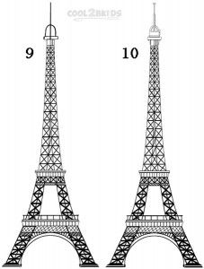 how to draw the eiffel tower dragoart