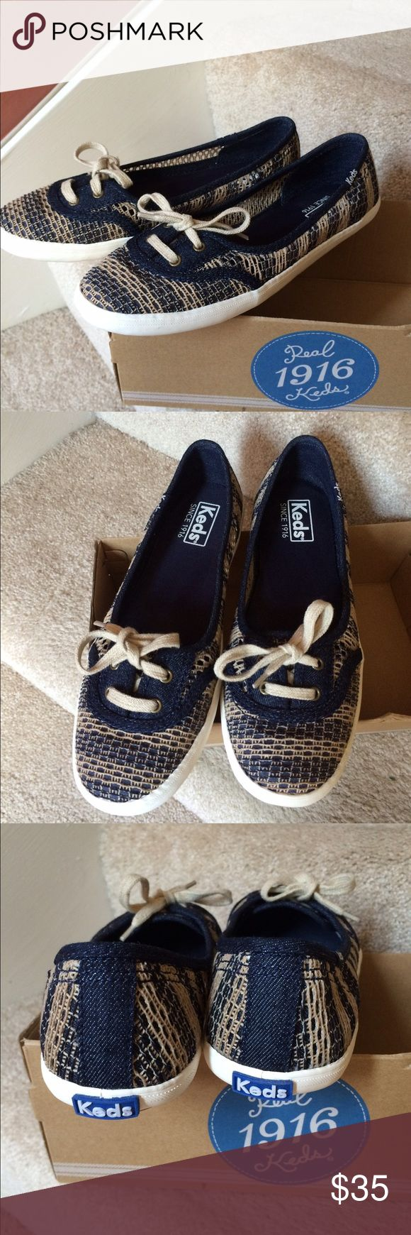 New Keds Teacup Crochet Women Slip On Shoes Size 7 Brand new with box Box has no lid Women size 7M 🙋🏻taking reasonable offer  Fast shipping Keds Shoes Flats & Loafers