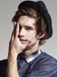 hot hipster guys - hair and hat