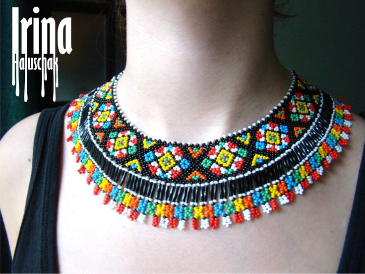 sead bead, beadwork, preciosa 10/0, ukraine, national jewelry, beaded necklace, beaded collar, http://irina-haluschak.blogspot.com/