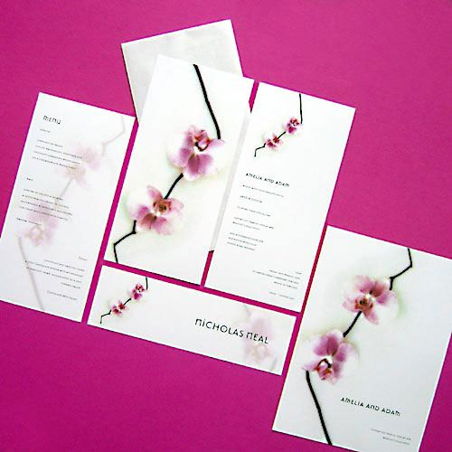 Orchid Wedding Stationery Designs by Jacquie