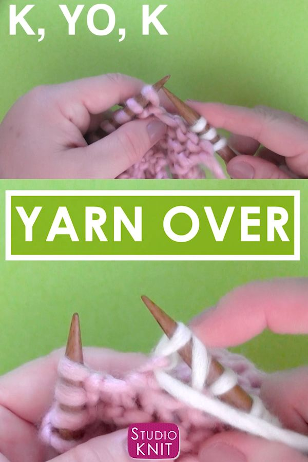 How to Knit a Yarn Over Increase Stitch – Studio Knit – Best Knitting Patterns
