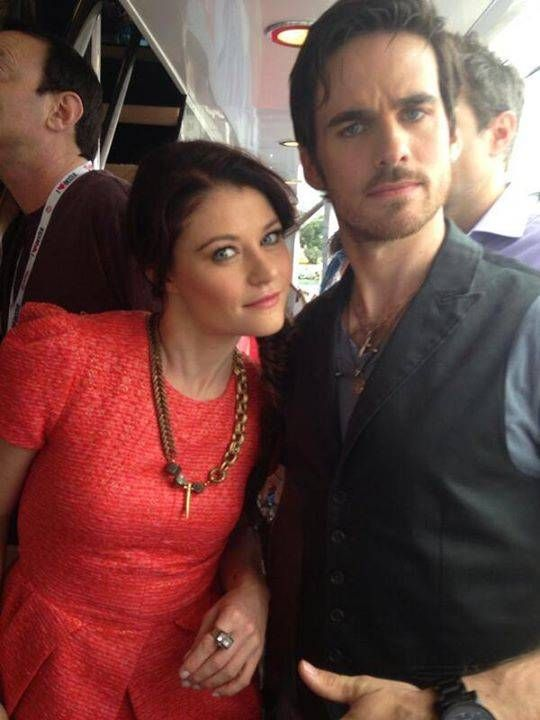Photo of Emilie De Ravin & her friend actor  Colin O