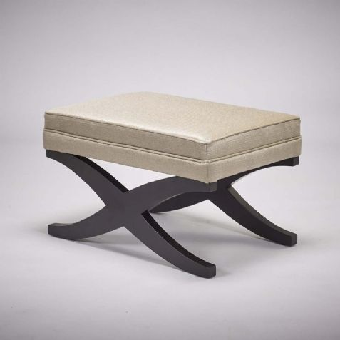 Upholstered Furniture: Stock Higgins Stool - Various Fabrics