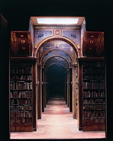 Charles Matton-The New York University Club Library 2000