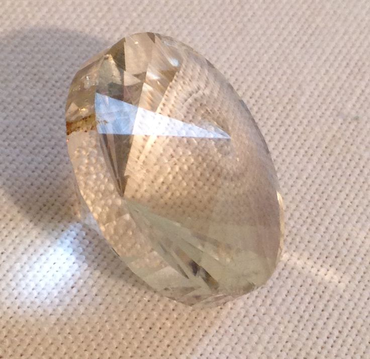 "Honey Quartz I found on FG Rd. and Faceted for Niko's Mom, in Toronto. ""Kansas"" is the design name."