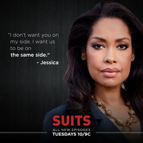 """""""I want us to be on the same side."""" -Jessica to Harvey"""