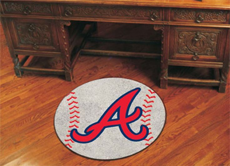 27 inch Round Atlanta Braves Baseball Mat