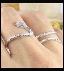 Δαχτυλίδι φίδι για δύο δάχτυλα