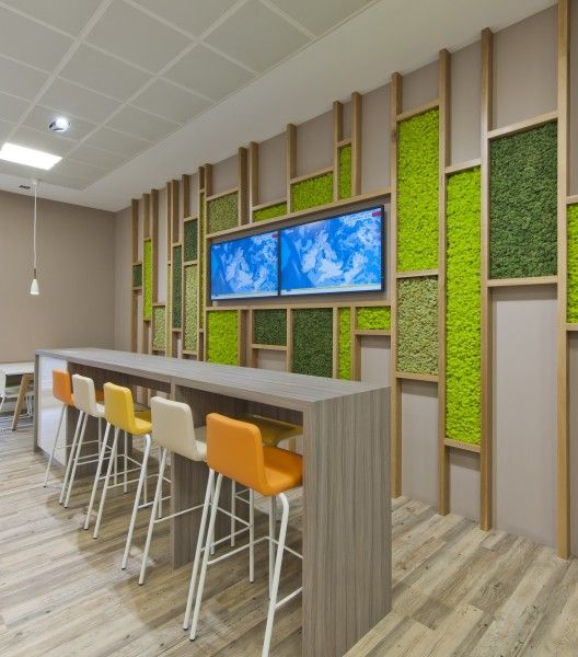 Everyone deserves a break, especially one in a comfortable environment. A Healthcare company in Glasgow took to the recently launched Nordik Moss Wall range.
