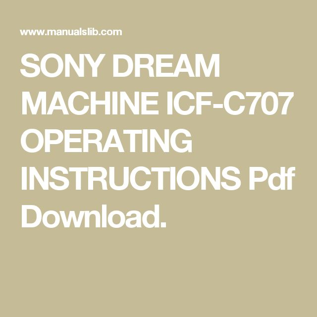 sony dream machine icf cd3ip instructions
