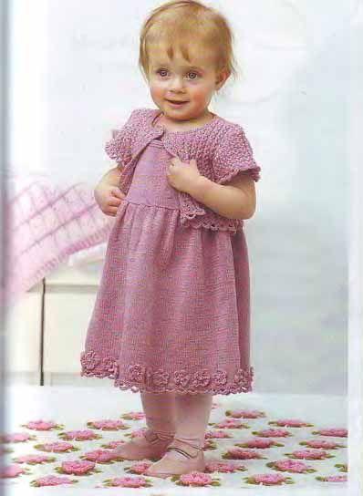 Платье спицами для девочки до 3 лет - Для детей до 3 лет - Каталог файлов - Вязание для детей