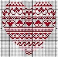 Cross stitch heart