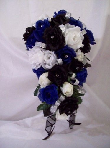 Royal Blue Black White Wedding
