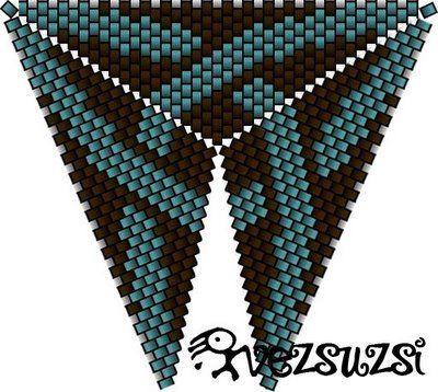 Triangle pattern, w peyote join ie not herringbone