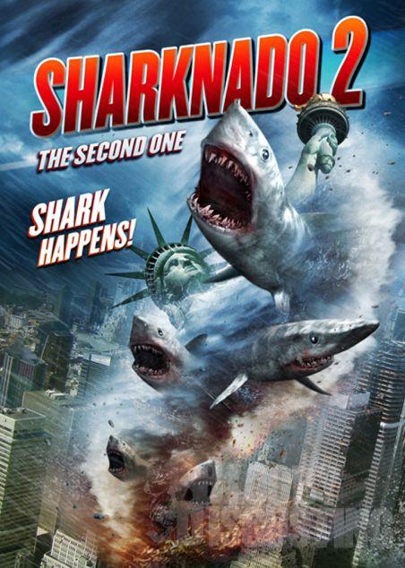 Sharknado 2 - see trailer!  http://horrorpedia.com/2014/03/31/sharknado-2-the-second-one/