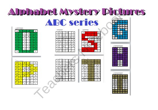 ABC Mystery Picture - Giveaway for the mystery pictures focused on individual letters of the alphabet....enjoy!.  A GIVEAWAY promotion for ABC Mystery Picture #2 from Teacher Helper on TeachersNotebook.com (ends on 9-15-2013)