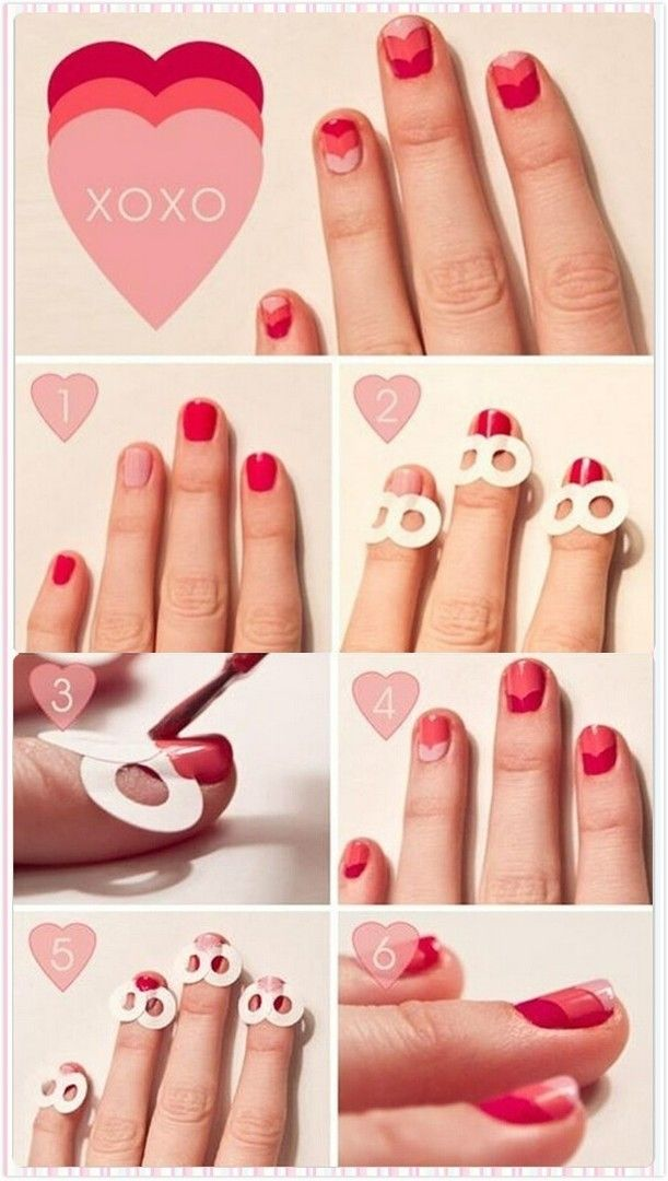 Red-and-pink Tutorial You Can do With Binder Stickies.