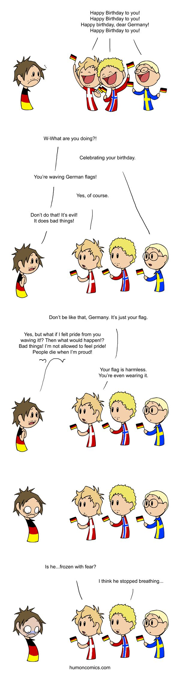 Haha, I just love the Germany jokes. Especially because they are oh so true...