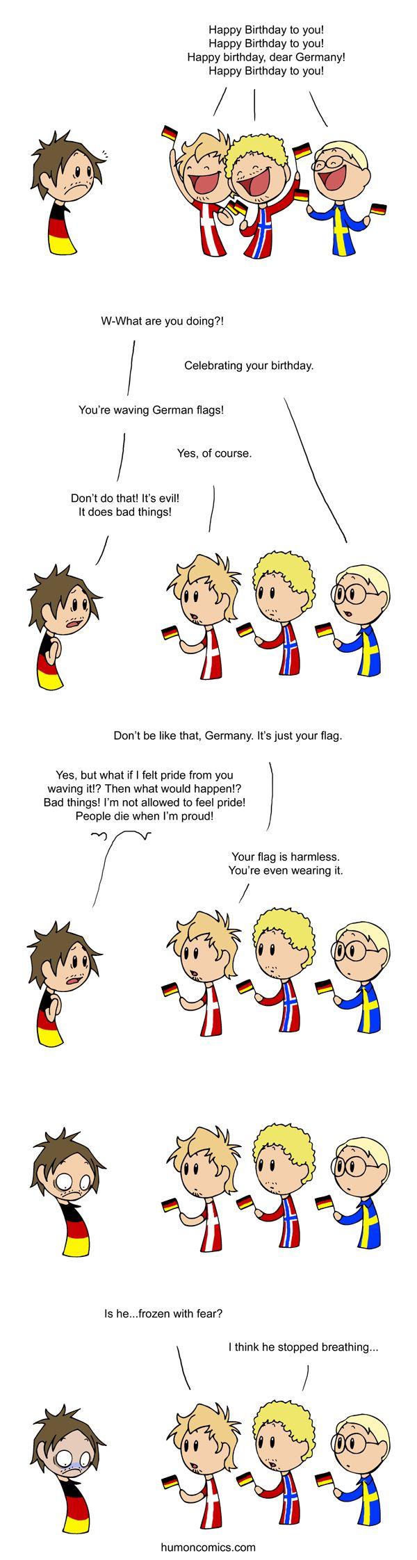 Haha, I just love the Germany jokes. Especially because they are oh so true...