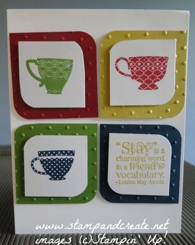 Tea Shoppe stamp set with 2013/14 In Colours